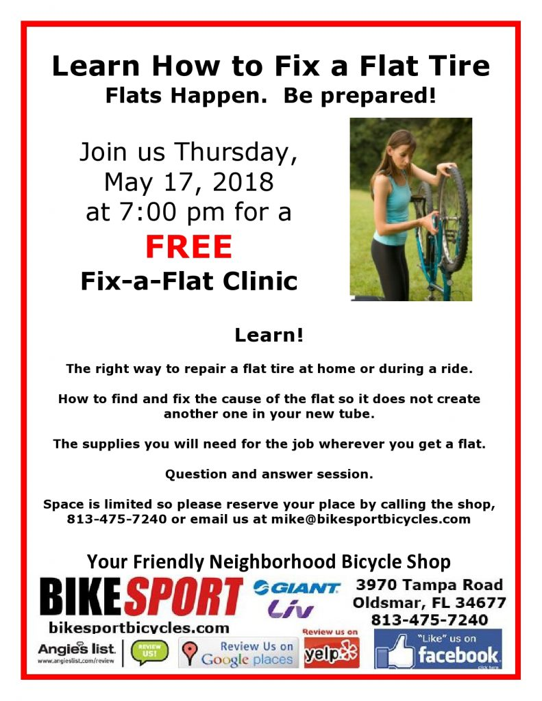 Fix a Flat Clinic May 17 2018